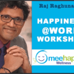 Happiness@Work poster for Raj Raghunathan's employee happiness workshop